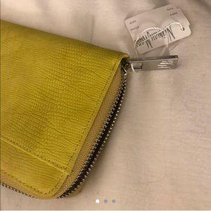 Neiman Marcus yellow wallet